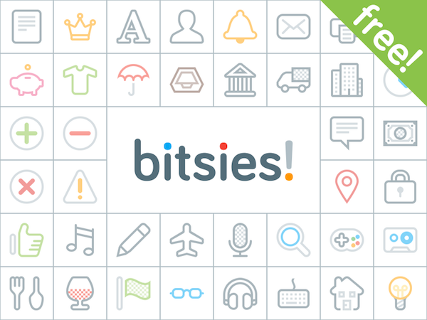 Free Bitsies Icons Set PSD