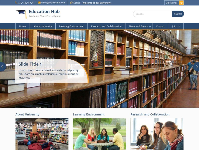 education hub wp theme psdblast