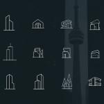 Free Minimal Architecture Icons (PSD)