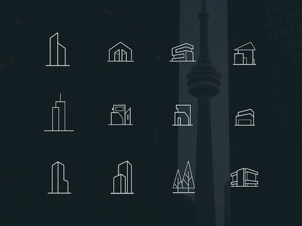 Free Minimal Architecture Icons (PSD)