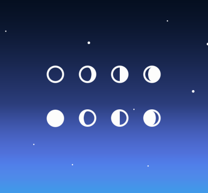 Free Simple Moon Phase Icons (PSD)