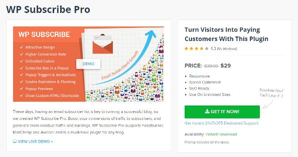 WordPress Subscribe Pro