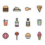 Free Colorful Food Icons