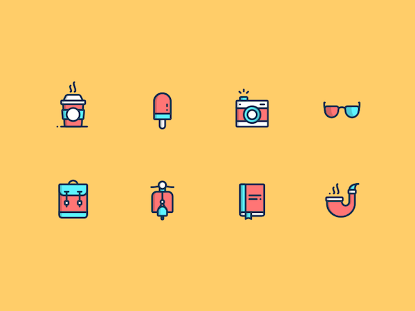 Free Hipster Icons Set (Sketch)