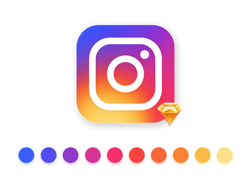 The New Instagram Logo Icon (Sketch)