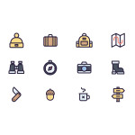 12 Free Travel Icons (Illustrator AI)