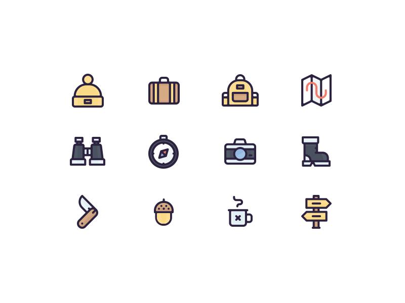 12 Free Travel Icons (Illustrator AI)