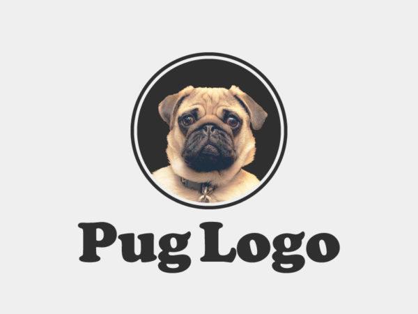 Pug Logo Template PSD