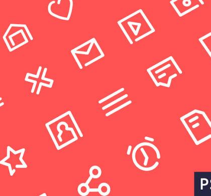 20 Outline Icons Freebie
