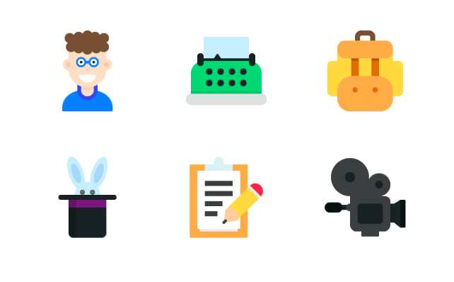 9 Free Colourful Flat Icons PSD