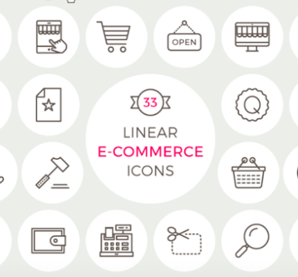 33 Free E-Commerce Icons