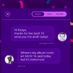 Purple Chat UI Design PSD