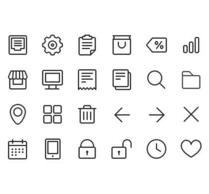 24 Free Line Icons