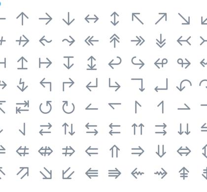 112 Free Arrow Icons PSD