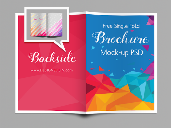 Single Fold Brochure Mock-Up PSD