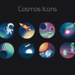 8 Cosmos Icons Freebie