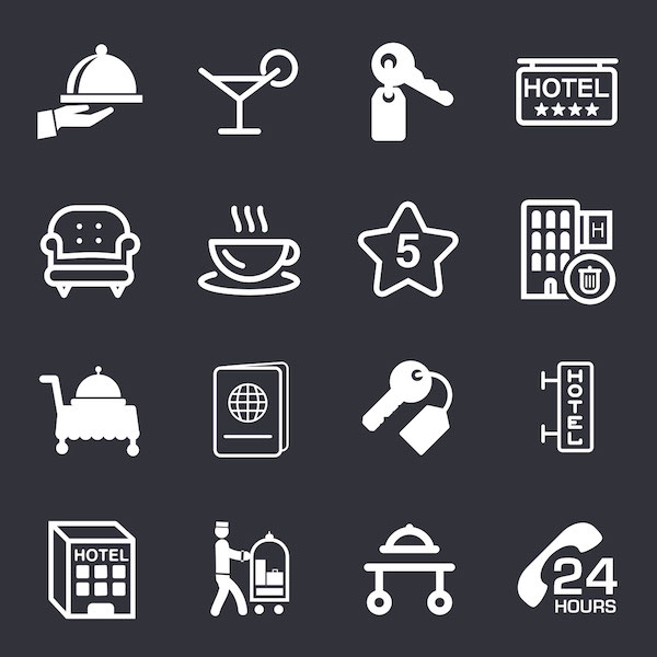 Free Hotel Icons Set (PSD)