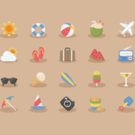 20 Free Vacation Time Icons