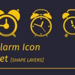 Free Alarm Icons Set PSD