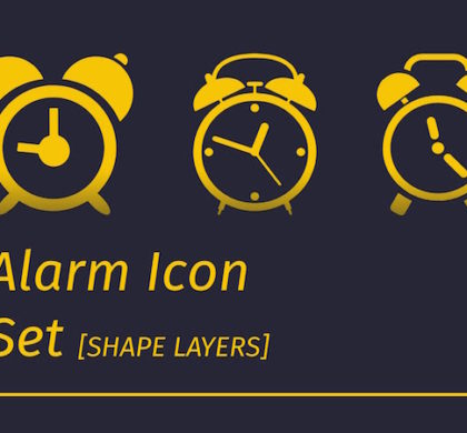 Free Alarm Icons Set PSD