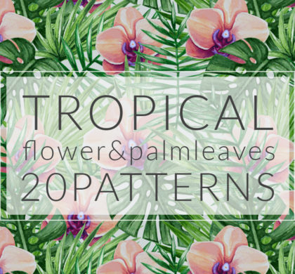 20 Tropical Flower & Palm Patterns
