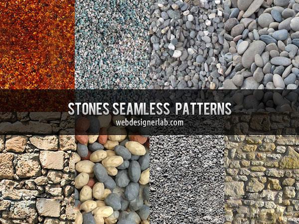 8 Free Seamless Stones Patterns