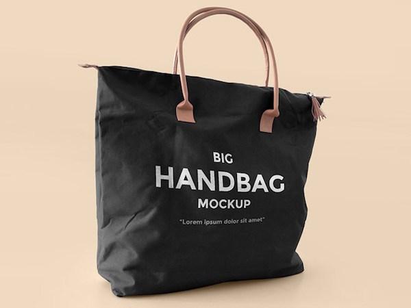 Free Realistic Handbag Mockup PSD