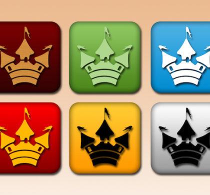 Free Castle Buttons PSD