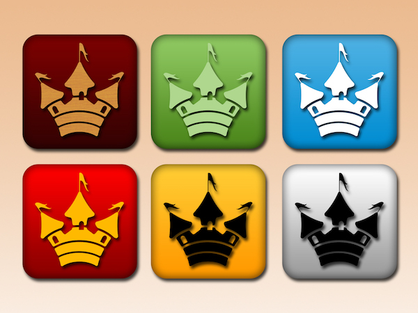 Free Castle Buttons PSD
