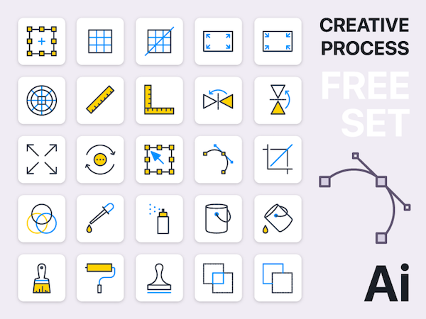 Creative Process Icons Pack