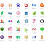 80 Free Social Media Icons PSD