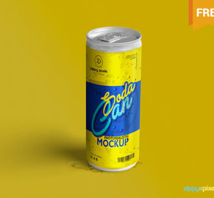 Soda Can Mockup Freebie
