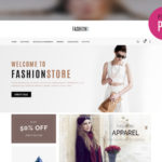 Simple E-commerce Template PSD