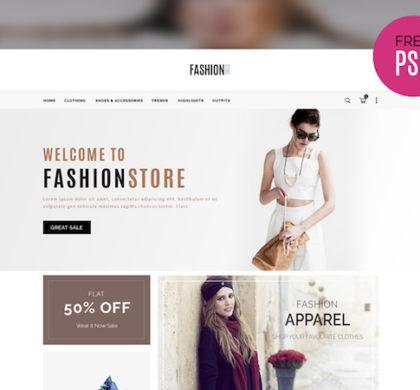 Simple E-commerce Template PSD