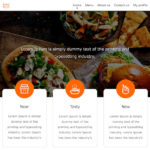 Free Food Website Template PSD