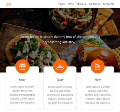Free Food Website Template PSD