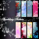Sparkling Texture Backgrounds Set