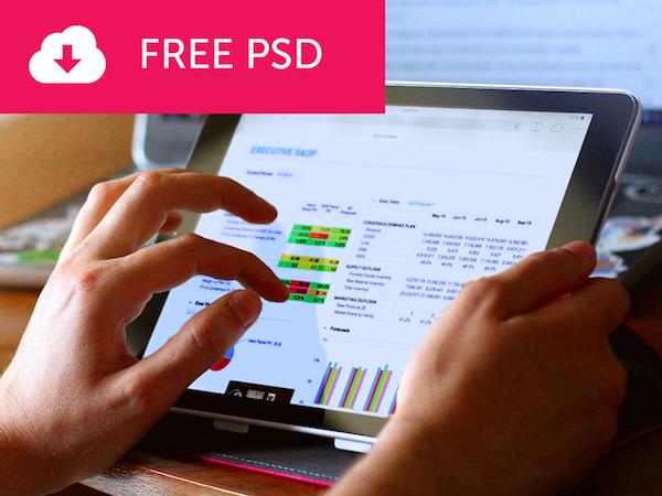 Free Tablet Mockup PSD