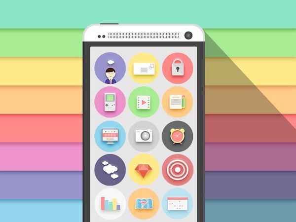 15 Free Colorful Flat Icons PSD