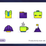 20 Productivity Icons PSD
