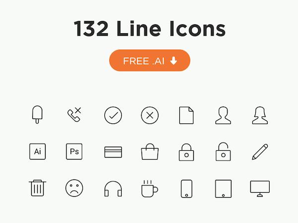 132 Free Line Icons