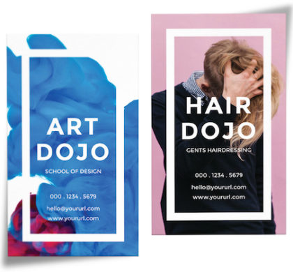 Dojo Vertical Business Cards PSD