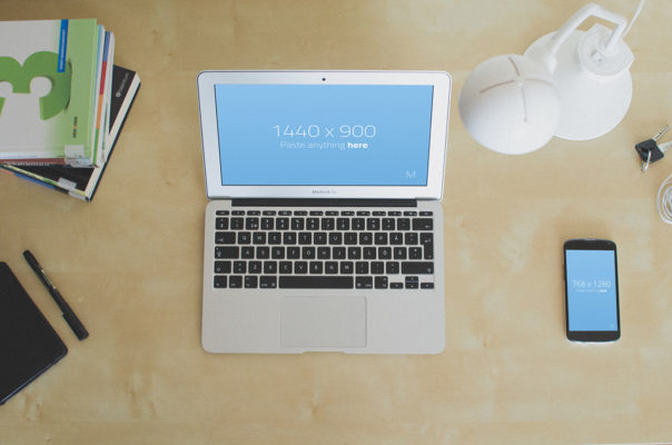Free Macbook Mockup Set
