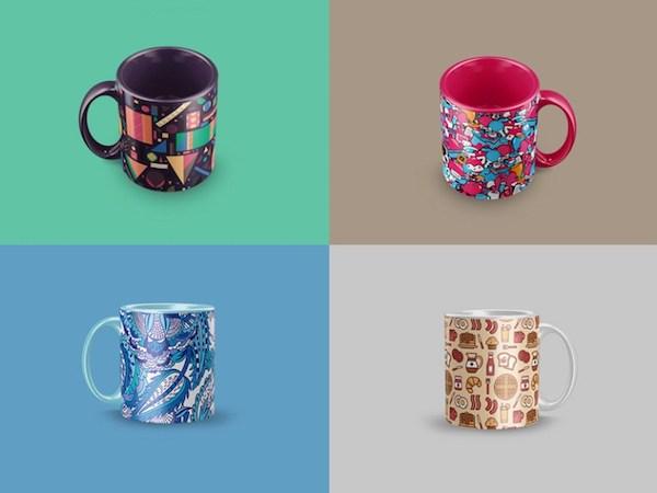 4 Free Coffee Mug Mockups PSD