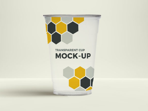Free Transparent Cup Mockup