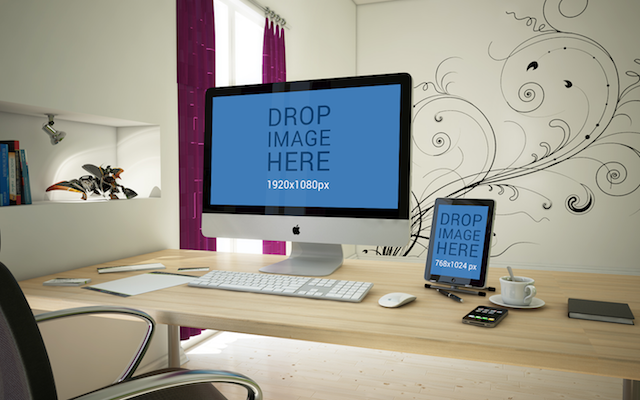 iMac and iPad Mockup PSD