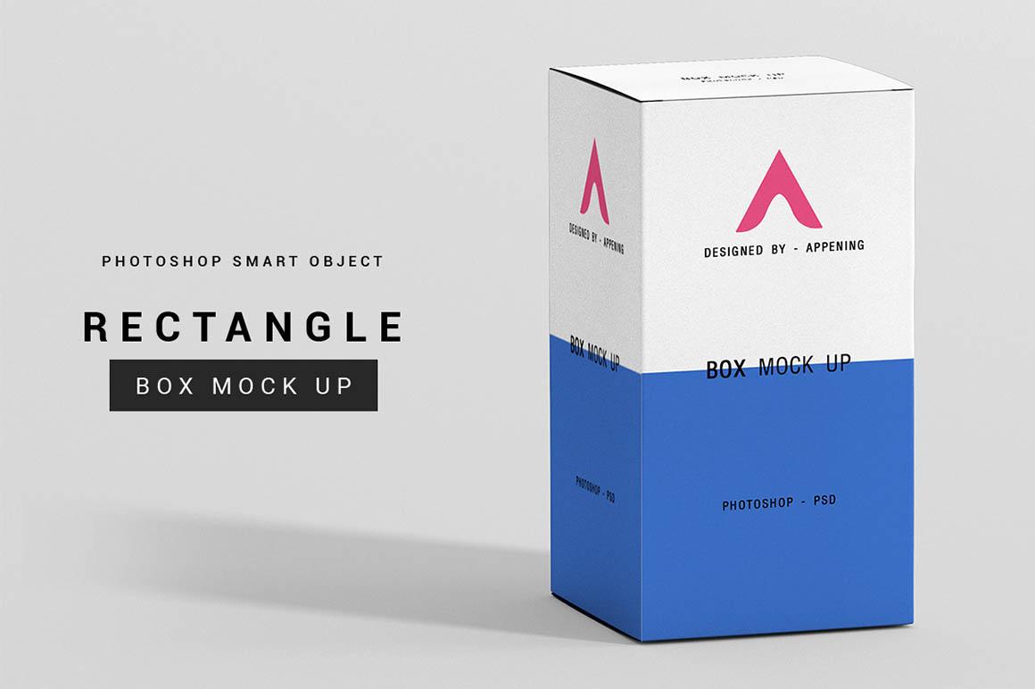 Rectangle Box Mockup Set Psdblast