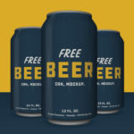 Free Beer Can Mockup PSD